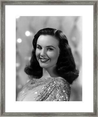 Because Of Him, Deanna Durbin, 1946 Framed Print
