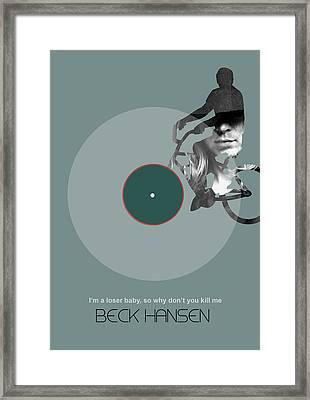 Beck Poster Framed Print by Naxart Studio