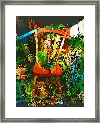 Becoming One With The Memories Framed Print by Lenore Senior and Dawn Senior-Trask