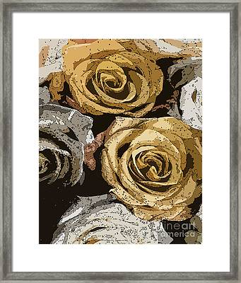 Bed Of Roses Framed Print