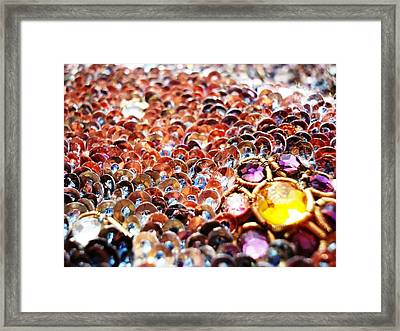 Bed Of Sequins Framed Print by Sumit Mehndiratta