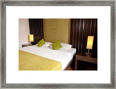 Bed Room Framed Print by Atiketta Sangasaeng