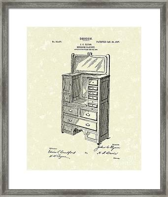 Bedroom Cabinet Design 1907 Patent Art Framed Print by Prior Art Design