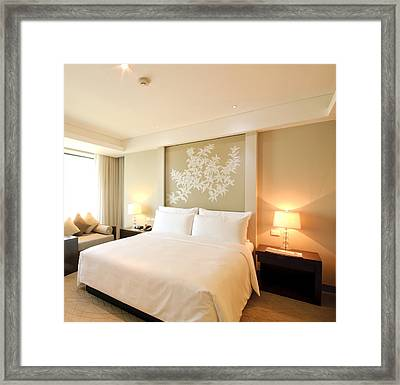Bedroom In The Morning Framed Print by Setsiri Silapasuwanchai