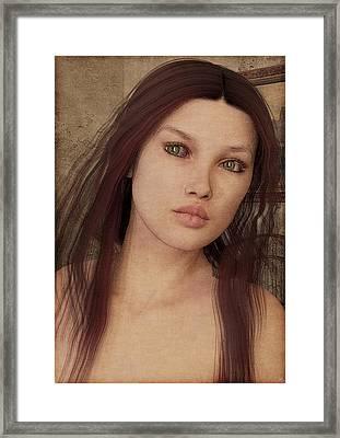 Framed Print featuring the painting Bedroom Portrait by Maynard Ellis