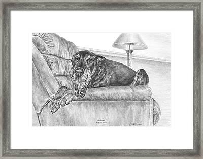 Bedtime - Doberman Pinscher Dog Art Print Framed Print by Kelli Swan
