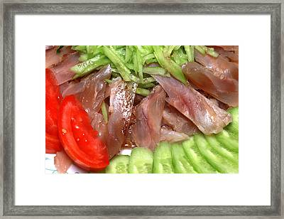 Beef Tendon With Vegetables Framed Print by Paul Ge