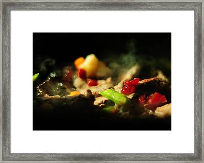 Beef With Vegetables Framed Print by Rebecca Sherman