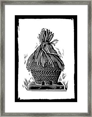 Beehive, Woodcut Framed Print