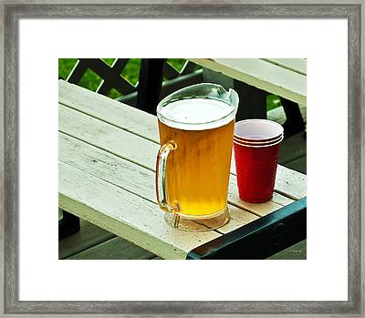 Beer 30 Now Framed Print by Edward Peterson
