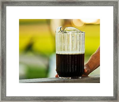 Beer 30 Somewhere Framed Print by Edward Peterson