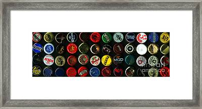 Beer Bottle Caps . 3 To 1 Proportion Framed Print by Wingsdomain Art and Photography