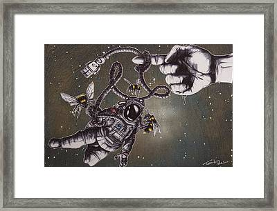 Bees Don't Accept The Limitations Of Physics Framed Print by Tai Taeoalii