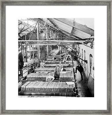 Beet Sugar Factory In Greeley Colorado - C 1908 Framed Print