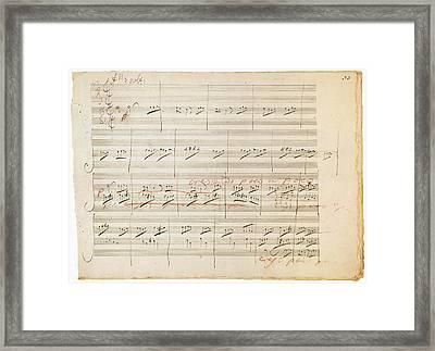 Beethoven Manuscript, 1806 Framed Print by Granger