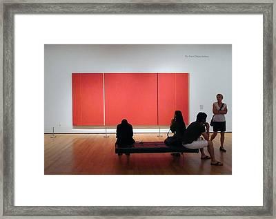 Before Cadmium Red Framed Print