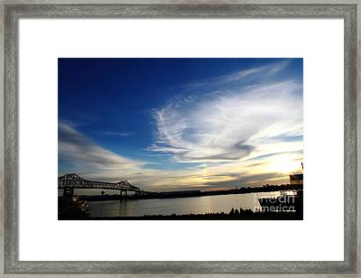 Before Sundown Baton Rouge Louisiana  Framed Print by Linda Alexander