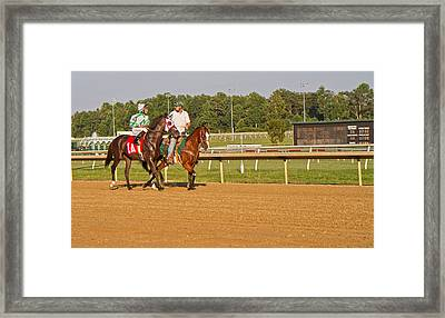 Before The Race Framed Print by Betsy Knapp