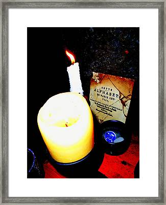 Before The Seance Framed Print by Randall Weidner