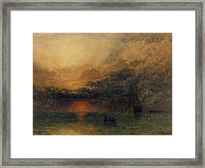 Before The Storm Framed Print by Henry Dawson