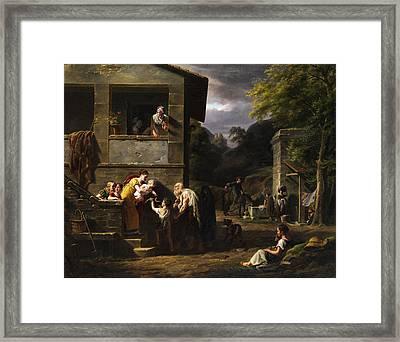 Beggar Framed Print by Antoine Beranger
