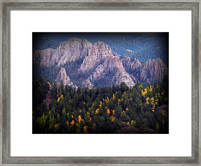 Beginning Of Mountain Fall Framed Print by Michelle Frizzell-Thompson