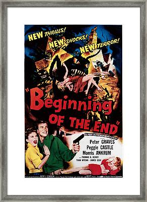 Beginning Of The End, Peggie Castle Framed Print by Everett