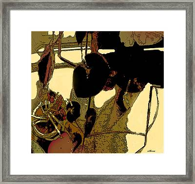 Begonias And Shadows Framed Print by Dale  Witherow