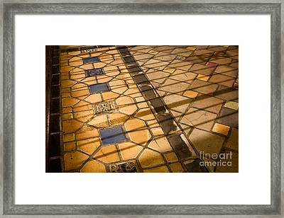 Framed Print featuring the photograph Behind Bars by Lawrence Burry