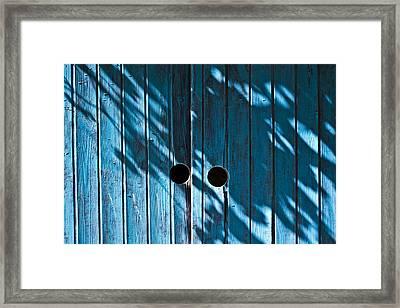 Behind  Blue Doors Framed Print by Tal Richter