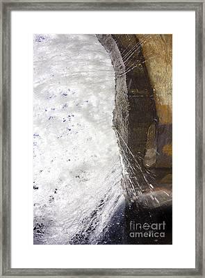 Behind Bridal Veil Falls In Dupont State Park Nc Framed Print by Dustin K Ryan