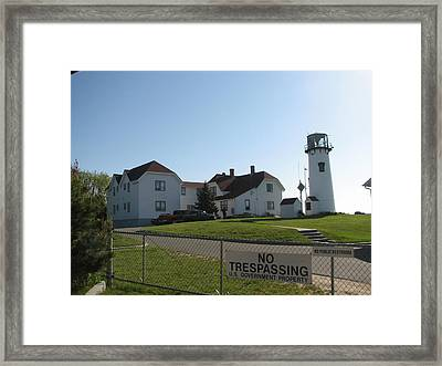 Behind Chatham Light Framed Print by Heather Gwyn Twomey