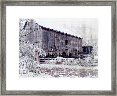Behind The Barn Framed Print by Kathy Jennings