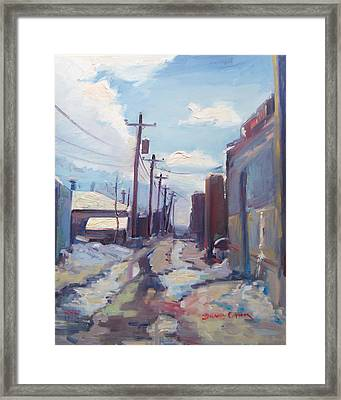 Behind The City Of Craig  Framed Print by Brandy Cattoor