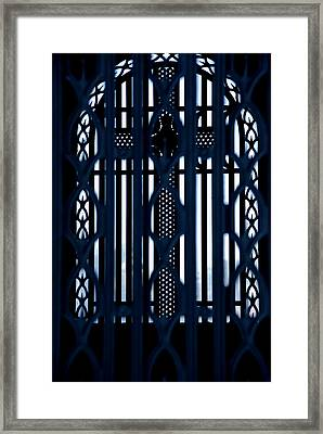 Behind The Cross Framed Print by Phil Bongiorno