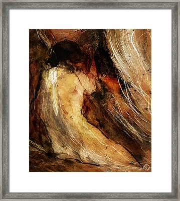 Behind The Curtain Framed Print by Gun Legler