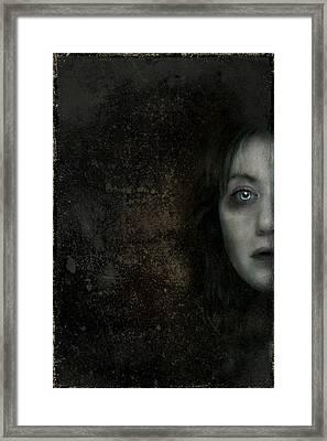 Behind The Door Framed Print by Hazel Billingsley