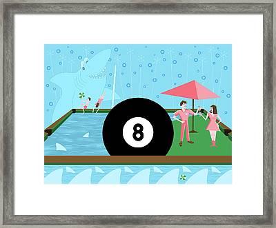 Behind The Eight Ball Framed Print