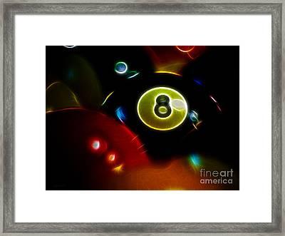 Behind The Eight Ball - Electric Art Framed Print by Wingsdomain Art and Photography