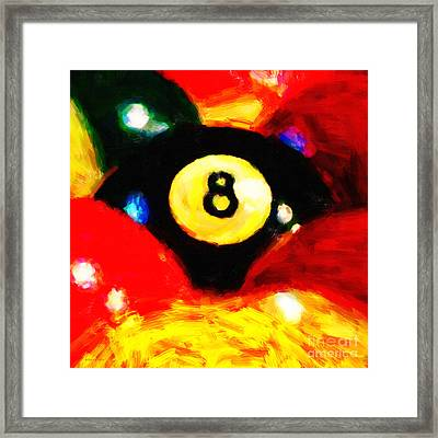 Behind The Eight Ball - Square Framed Print by Wingsdomain Art and Photography