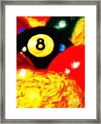 Behind The Eight Ball - Vertical Cut Framed Print by Wingsdomain Art and Photography