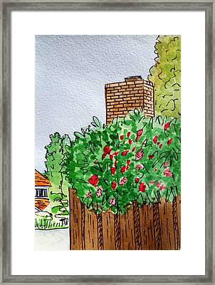 Behind The Fence Sketchbook Project Down My Street Framed Print by Irina Sztukowski