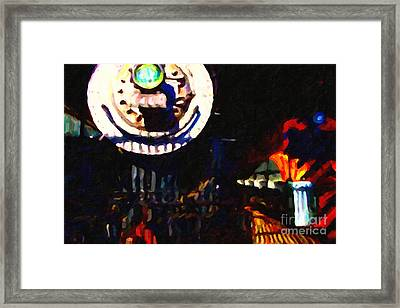 Behind The Gates At The Old Locomotive House . Painterly . Vision 2 Framed Print by Wingsdomain Art and Photography