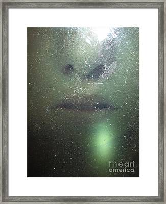 Behind The Glass Framed Print by Judy Morris