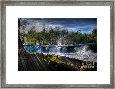 Behind The Light Framed Print