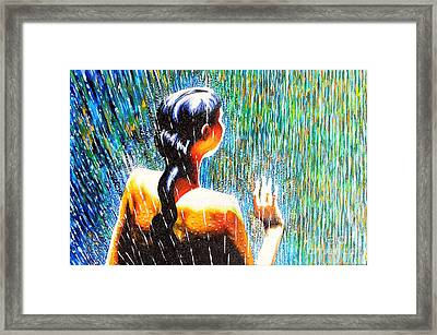 Behind The Rain Framed Print by Jose Miguel Barrionuevo