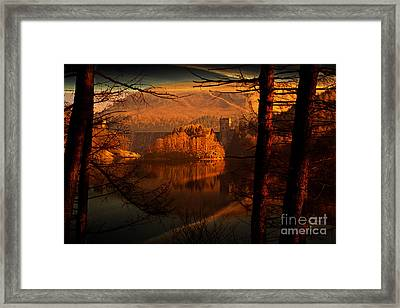 Behind The Trees Framed Print by Nigel Hatton