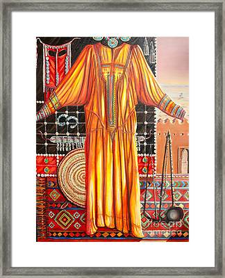 Behind The Veil Part One Asif Framed Print by Yvonne Ayoub