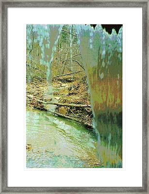 Behind The Waterfall Framed Print by Padre Art