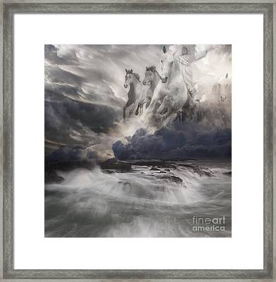 Behold A White Horse II Framed Print by Keith Kapple